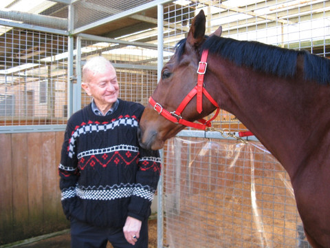 86 year-old buys his first share in a horse